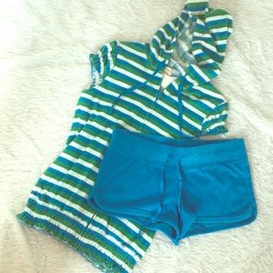 Charlotte Russe two piece terry cloth short set